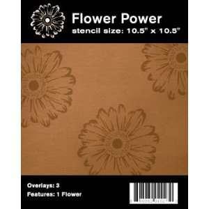 Flower Power Retro Home Decor Stencil Arts, Crafts