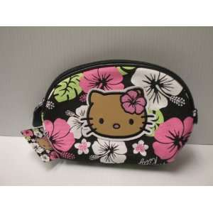Hello Kitty Black Cosmetic Pouch Hawaiin Flowers Toys