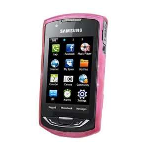 Pink Gel Skin/ Case for Samsung S5620 Monte Cell Phones & Accessories