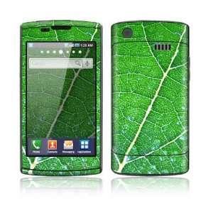 Samsung Captivate Decal Skin Sticker   Green Leaf Texture