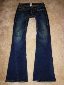 JOEY BIG T Drifter Dark Crystal Rivet Stretch Flare Jeans 27