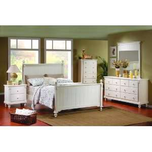 Homelegance Queen Bed, White Finish Home & Kitchen