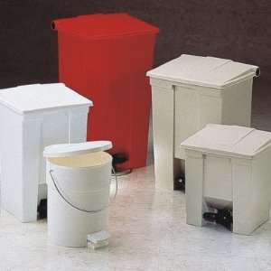 Red Fire Safe Plastic Step On Receptacle 12 Kitchen & Dining