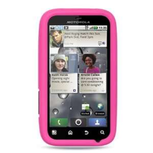 PINK Soft Silicone Skin Cover Case for Motorola Defy