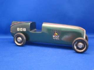 Derby Slot Race Car Boy Scouts Wood 1967 Decals Green Paint 902