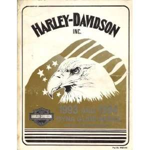 1993 and 1994 Harley Davidson Dyna Glide Model Service