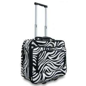 Black & White 16 Rolling Canvas Laptop Bag Brief Case Electronics