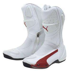 Puma Desmo GTX White/Red  Grey  Black Motorcycle Boot Bike Footwear