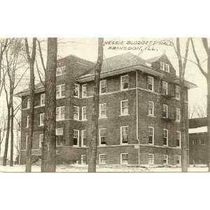 Postcard   Nessie Blodgett Hall   Abingdon Illinois
