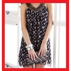 D72 Women Nana Punk Gothic Skull Dress Skirt Shirt M Toys