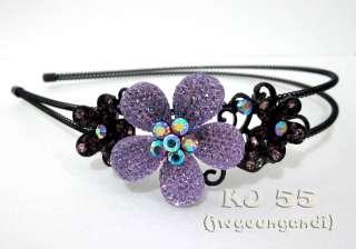 Flower Rhinestone Headbands Multi Color Hair Band 9400