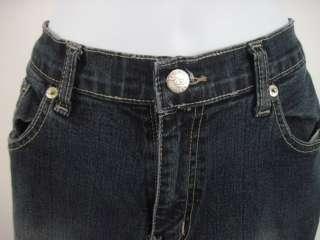 DIESEL INDUSTRY Blue Dark Wash Boot Cut Denim Jeans 32