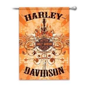Harley Davidson Wings Flag by The Hamilton Collection