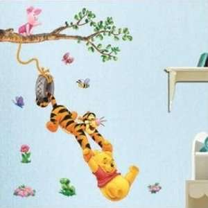 Swinging From the Tree Sticker Decal for Baby Nursery Kids Room Baby