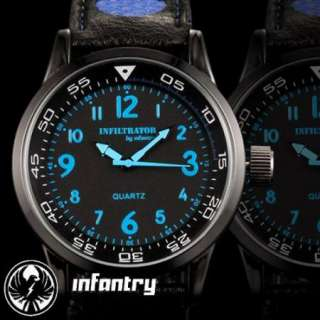 New Navy Army Mens Black INFANTRY Police Quartz Watch