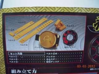 Rangers Sentai Shinkenger Samurai Hidden Disk Buckle Belt Cosplay