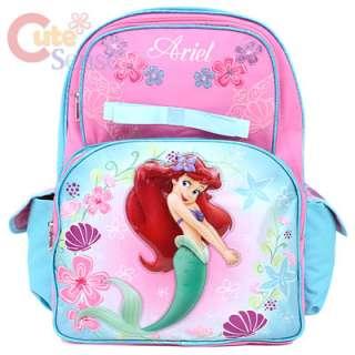 Disney Little Mermaid Ariel School Backpack / Bag 16in Large (Pink