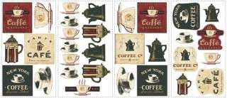 WALL DECALS Kitchen Stickers Cafe Removable Easy Decorations