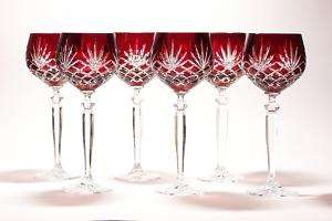 240ml Remer/ Wine Ruby Red Crystal Glasses Diamond