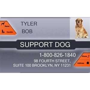 SUPPORT DOG Badge   1 Dogs Custom ID Badge   Design#2