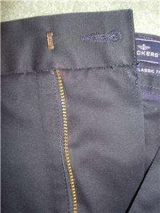 NWT DOCKERS D3 Classic Fit Navy Blue Flat Front Khakis Pants Mens 42 x