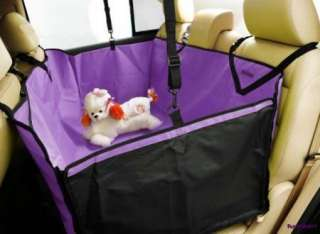 Car Auto Pet Dog Cat Purple 3D Waterproof Hammock Seat Cover Protector
