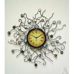 Abstract Modern Rainbow Swirl Wall Clock