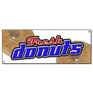 DONUTS BANNER SIGN hot donut doughnut shop sign signs
