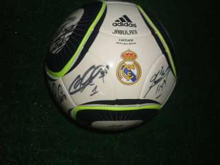 REAL MADRID ADIDAS BALL SIGNED BY PLAYERS