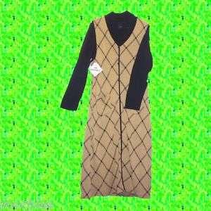 NWT Lennie for Nina Leonard 2pc Dress Set Camel Black L