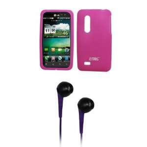 EMPIRE Hot Pink Silicone Skin Cover Case + Purple 3.5mm