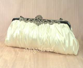 Crystal Clasp Wedding Evening Handbag Purse Clutch m C58330W