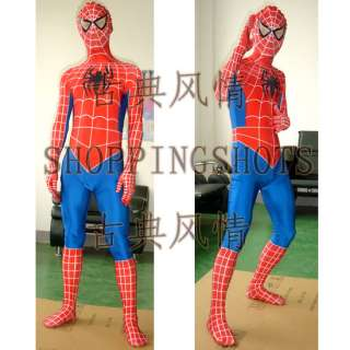 Spider Man ADULT MASCOT COSTUME suit R00008 Fancy Dress one size