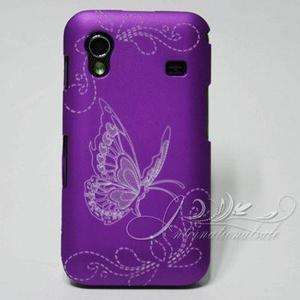 Purple Flowers butterfly hard Cover Case For Samsung S5830 Galaxy Ace