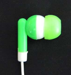 Green In Ear Earbud Stereo Earphone Headphone for Ipod  New