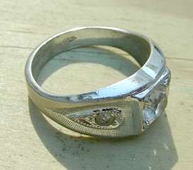 Pre Owned   Vintage   Retro   Estate Mens Sterling silver ring with