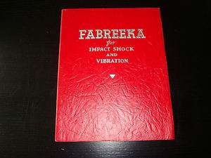 Fabreeka Products Co. 1940s Promo Brochure Boston MA Use in Aviation
