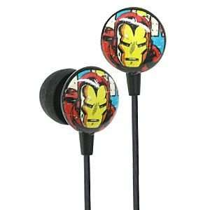 Disney Earbud Style Marvel Comics Iron Man Headphones Electronics