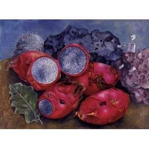 : Still Life: Pitahayas: Frida Kahlo Hand Painted Art: Home & Kitchen