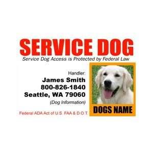 Service DOG Id Badge   1 Dogs Custom Id Badge   Design#4