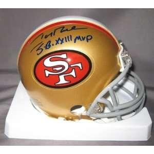 Jerry Rice San Francisco 49ers NFL Hand Signed Mini Football Helmet