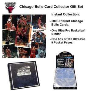 Various Brands Chicago Bulls 500 Card Collector Gift Set