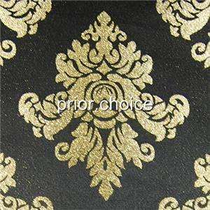LUXUARY GOLD DAMASK BLACK DECORATIVE TABLE RUNNER CLOTH