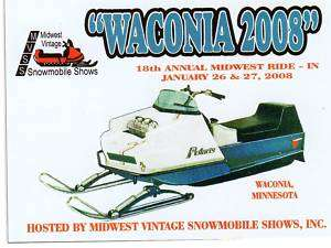 WACONIA 2008 POLARIS TX SNOWMOBILE DASH PLAQUE