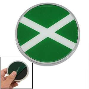 Amico White Cross Wrong Sign Decor Round Emblem Badge for