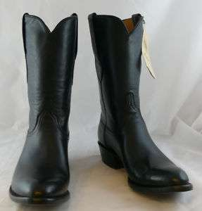 Mens Lucchese Cowboy Boots Black Euro Calf G9934