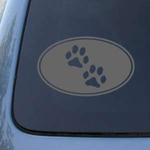 PAW PRINTS CIRCLE   Dog Cat   Vinyl Decal Sticker #1543  Vinyl Color