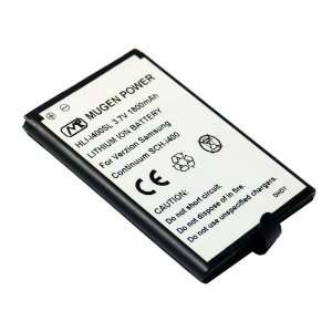 Mugen Power Slim Extended 1800mAh Battery for Verizon