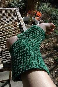 Handmade Med Green Yoga Pilate Socks Toeless Heelless Pedicure Crochet