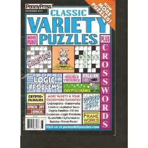 Penny Press Classic Variety Puzzles (November 2010